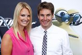 NEW YORK-JULY 9: Race car driver Will Power and wife Elizabeth attend the premiere of