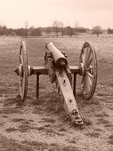 Cannon On Field At New Market Battlefield, Virginia