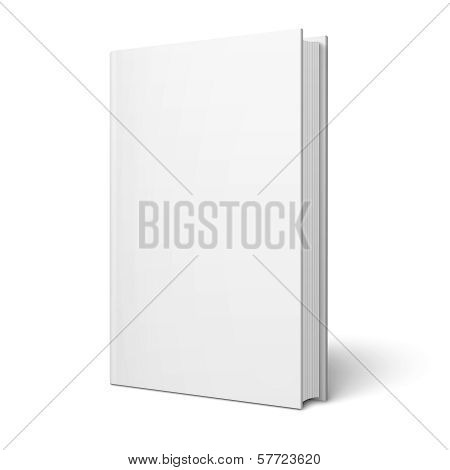 Blank vertical book template. poster