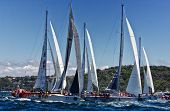 Clippers Competing In Sydney To Hobart Yacht Race