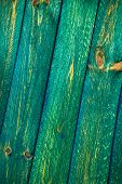 Wall Wooden Planks Painted Green