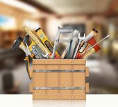 stock photo of locksmith  - Tools of the carpenter - JPG
