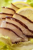 Prepared Fish Slices With Lemon