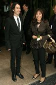 Dhani Harrison and Olivia Harrison at the ceremony posthumously honoring George Harrison with a star