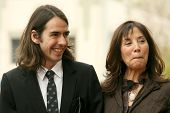 Dhani Harrison and Olivia Harrison at the ceremony posthumously honoring George Harrison with a star on the Hollywood Walk of Fame. Vine Boulevard, Hollywood, CA. 04-14-09