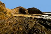 Spain Landscape Rock Ky Cloud Beach   Lanzarote  Isle