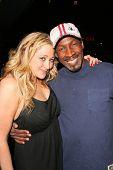 Jennifer Blanc and Glenn Plummer at Jennifer Blanc's Birthday Party. Amagi Night Club, Hollywood, CA. 04-21-09