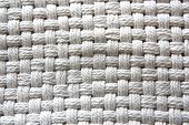 Natural Cotton Fabric with Basket Weave