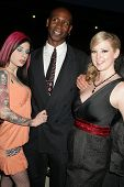 Joanna Angel with Charles Holland and Sunny Lane at the Los Angeles Premiere of 'Naked Ambition an R