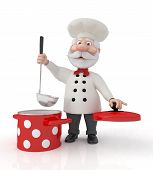 The 3D Cook With A Pan.