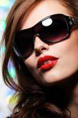 Beauty Woman In Modern Sunglasses