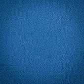 picture of unnatural  - Blue leather macro shot texture for background - JPG