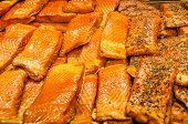 Smoked salmon for sale