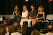 Grace Park and Kate Vernon with Michael Trucco and Luciana Carro  at 'Battlestar Galactica' Auction Preview Day and Actor Panel. Pasadena Convention Center, Pasadena, CA. 05-07-09