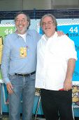James L. Brooks and Matt Groening at the ceremony dedicating US Postal Stamps to the Television Show