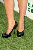 Amy Smart's shoes at Global Green USA's 13th Annual Millennium Awards. Fairmont Miramar Hotel, Santa Monica, CA. 05-30-09