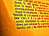 picture of law-books  - Photo shopped picture of the word  - JPG