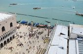 Bird's eye view from the Campanile of St Mark's Square
