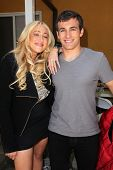 Jennifer Blanc, Matthew Ziff on the set of