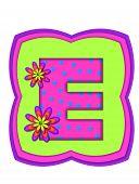 Alphabet Daisy Daze E