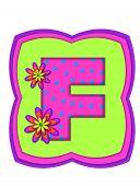 Alphabet Daisy Daze F