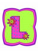 Alphabet Daisy Daze L