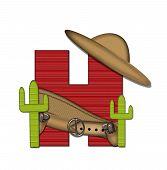 Alphabet Bandido H