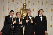 Eric Barba and Steve Preeg with Burt Dalton and Craig Barron in the Press Room at the 81st Annual Academy Awards. Kodak Theatre, Hollywood, CA. 02-22-09