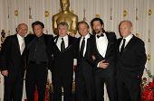 Ben Kingsley, Sean Penn, Robert De Niro, Michael Douglas, Adrien Brody and Anthony Hopkins in the Press Room at the 81st Annual Academy Awards. Kodak Theatre, Hollywood, CA. 02-22-09
