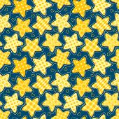 Children seamless pattern with stars
