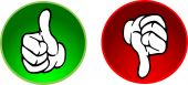 Red and greenThumbs up & down buttons