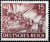 German Howitzer Stamp