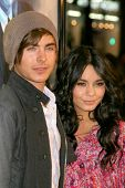 Zac Efron and Vanessa Hudgens at the U.S. Premiere of 'Watchmen'. Grauman's Chinese Theatre, Hollywo
