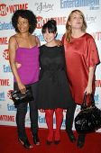 Rose Rollins with Mia Kirshner and Laurel Holloman  at the farewell party for final season of 'The L