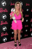 Aubrey O'Day  at Barbie's 50th Birthday Party. Barbie's Real-Life Malibu Dream House, Malibu, CA. 03-09-09