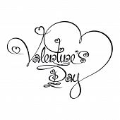 Caligraphic Text - Valentines Day