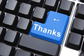 stock photo of thank you note  - thank you for your computer or internet help - JPG