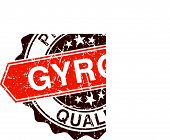 picture of gyro  - Gyros grungy stamp isolated on white background - JPG