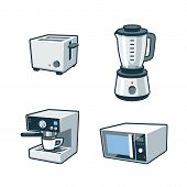 Home Appliances 3 - Toaster, Blender, Coffee Maker, Microwave Oven