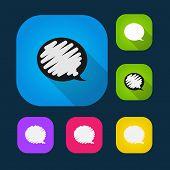 Set of vector colored speech bubbles eps