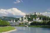 Salzburg City Historic Center Panorama