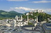 Salzburg City Historic Center With Cathedral