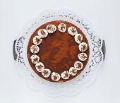 Tiramisu Cake Isolated As Cut