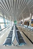PHU QUOC, VIETNAM - APRIL 27, 2014: Departure lounge of  Phu Quoc international airport, which was c