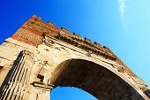 The Augustus Arch In Rimini City, Italy