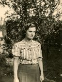 LEGNICA (LIEGNITZ), FORMERLY GERMANY, NOW POLAND, CIRCA THIRTIES - Vintage portrait of young woman