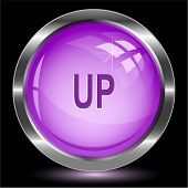 Up. Internet button. Vector illustration.