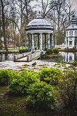 chinoiserie.Ornamental fountains of the Palace of Aranjuez, Madrid, Spain.World Heritage Site by UNE