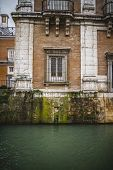 Tajo river way through Palace of Aranjuez, Madrid, Spain