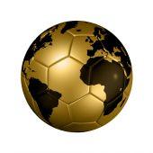 Gold Soccer Football Ball Globe